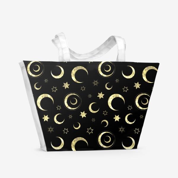 Пляжная сумка «Луна и звезды»