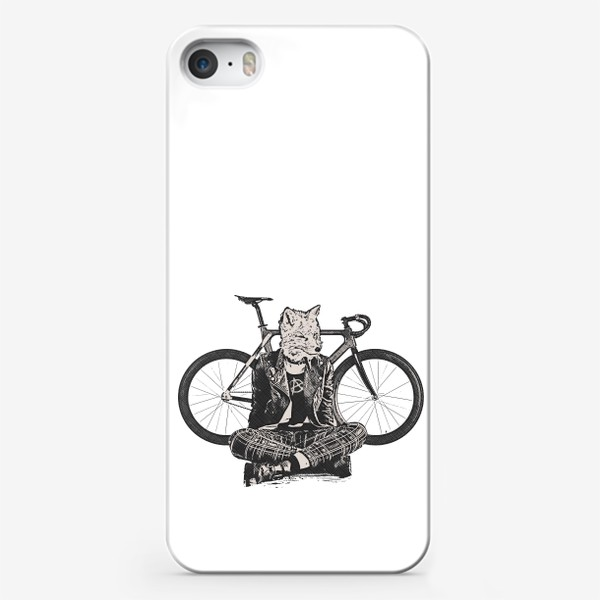 Чехол iPhone «Fox Punk Biker»