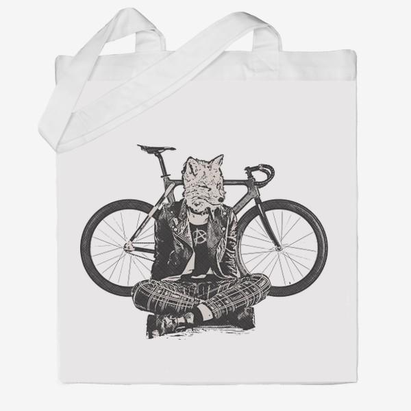 Сумка хб «Fox Punk Biker»