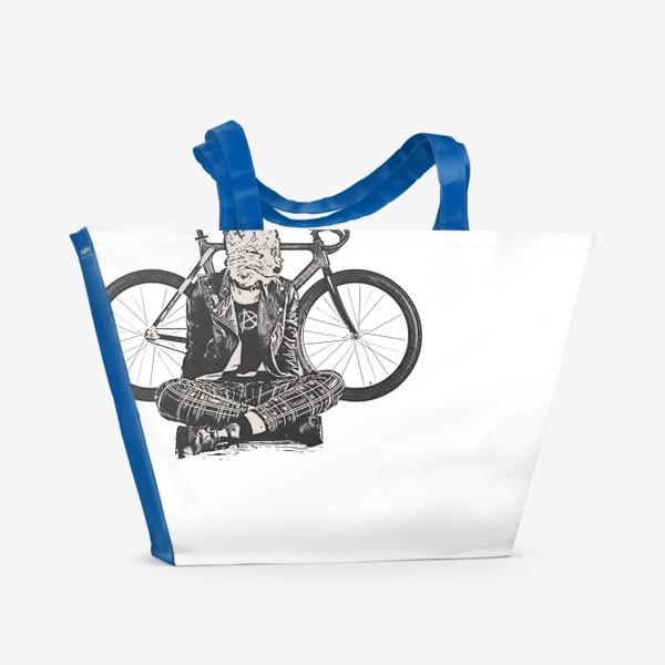 Пляжная сумка «Fox Punk Biker»