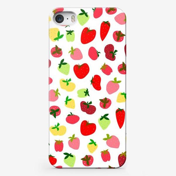 Чехол iPhone «клубника»