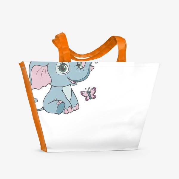 Пляжная сумка «Милый слоненок»