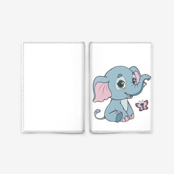 Обложка для паспорта «Милый слоненок»