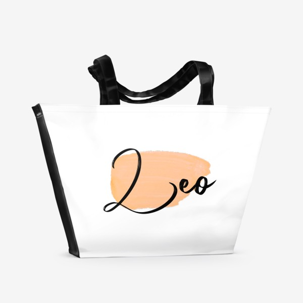Пляжная сумка «Зодиак Лев. Акварель»
