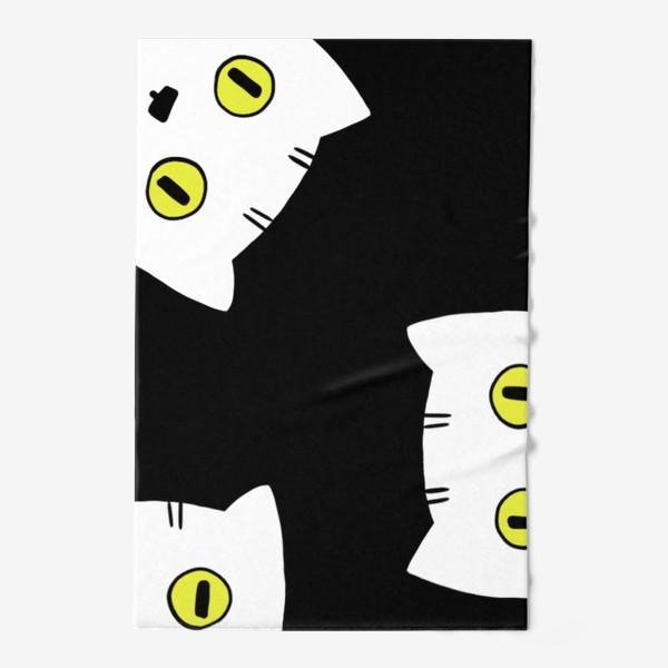 Полотенце «котики в темноте»