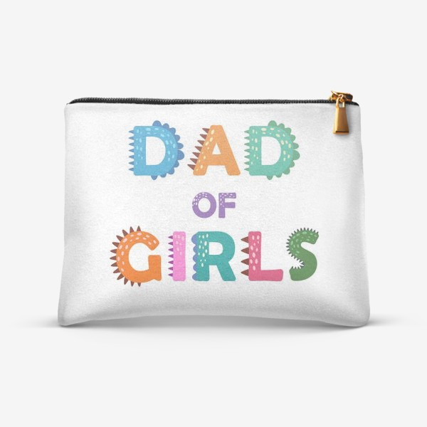 """Косметичка «""""Папа девочек"""" разноцветная надпись для отцов»"""