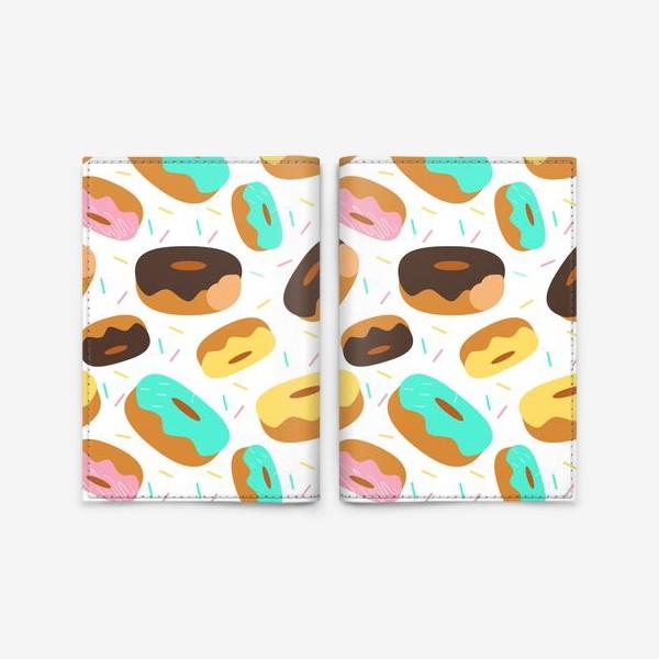 Обложка для паспорта «Пончики на белом»