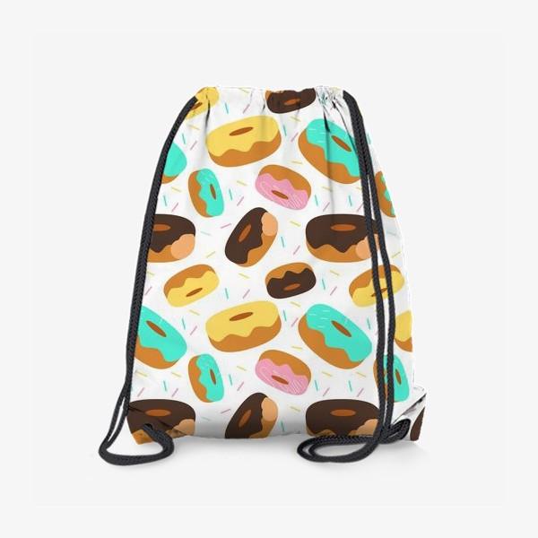 Рюкзак «Пончики на белом»