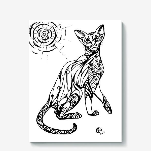 Холст «Кошка Абиссинка»