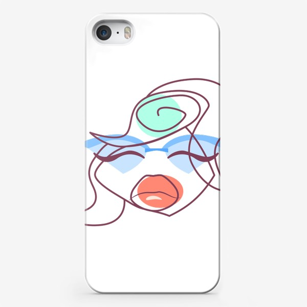 Чехол iPhone «Абстракция. Лица»