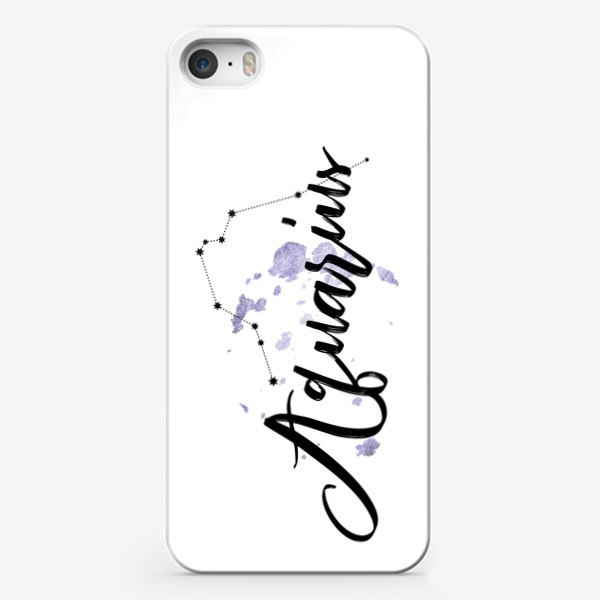 Чехол iPhone «Водолей. Созвездие. Декор»