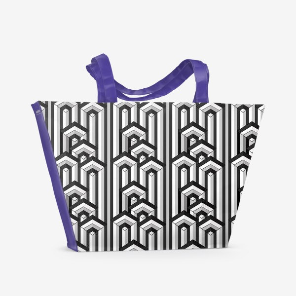 Пляжная сумка «Не простая геометрия, паттерн»