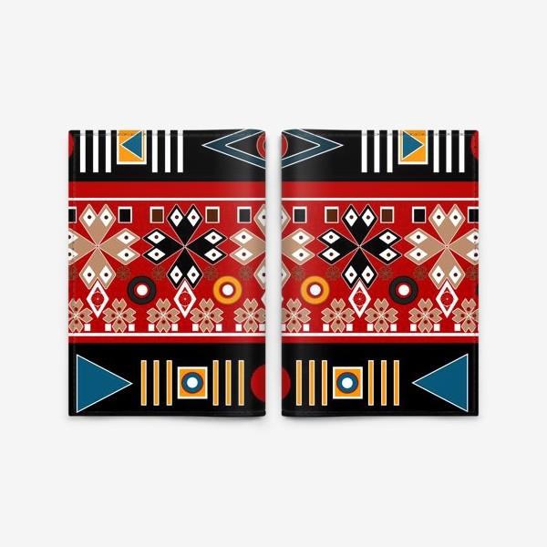 Обложка для паспорта «Африканские мотивы в этническом бохо ретро стиле паттерн»