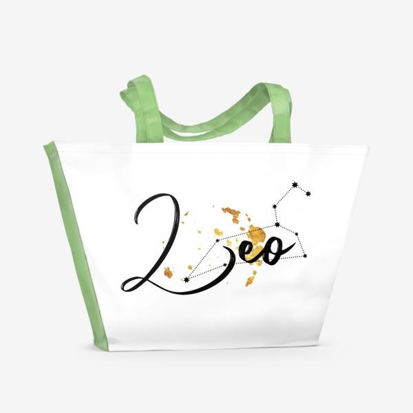 Пляжная сумка «Лев. Созвездие. Декор»