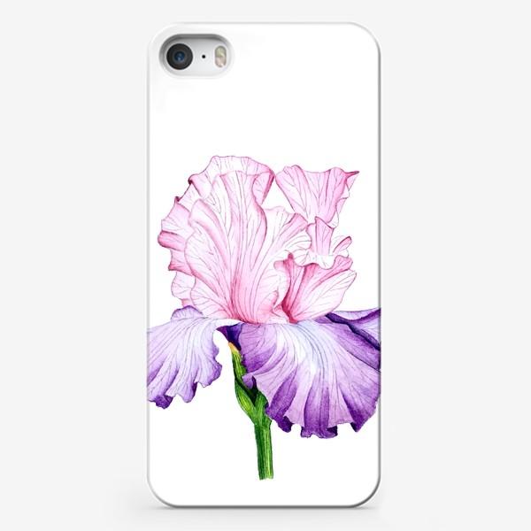 Чехол iPhone «Ирис. Акварель.»