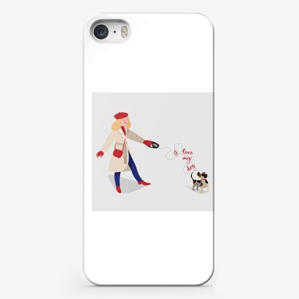 Чехол iPhone «я люблю свою собаку»