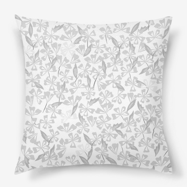 Подушка «цветы чёрно-белые»