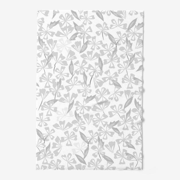 Полотенце «цветы чёрно-белые»