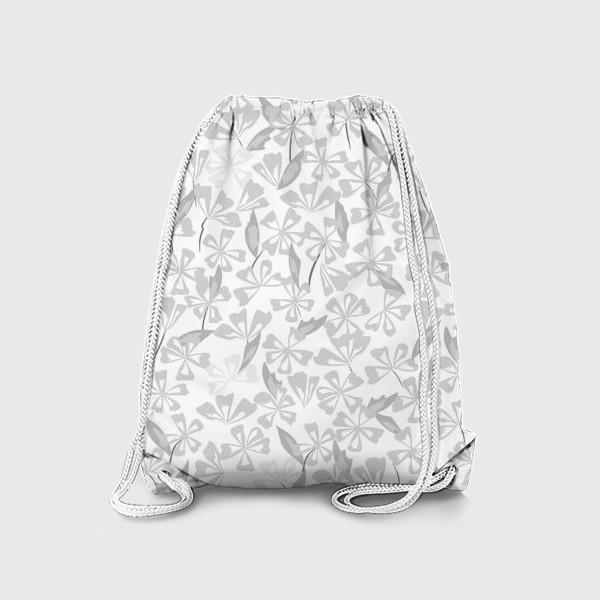 Рюкзак «цветы чёрно-белые»