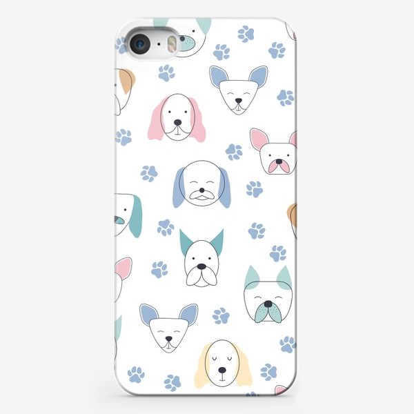 Чехол iPhone «Милые собачки. Паттерн»
