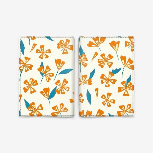 Обложка для паспорта «цветочная поляна»