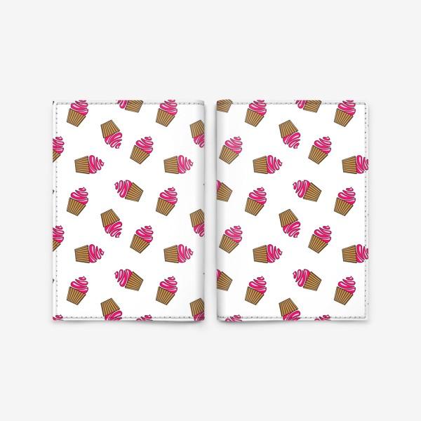 Обложка для паспорта «розовые кексы»