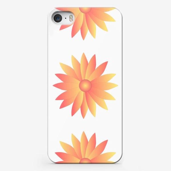 Чехол iPhone «Паттерн цветы»