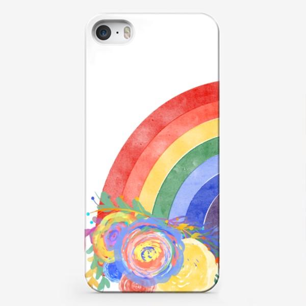 Чехол iPhone «Цветущая радуга»