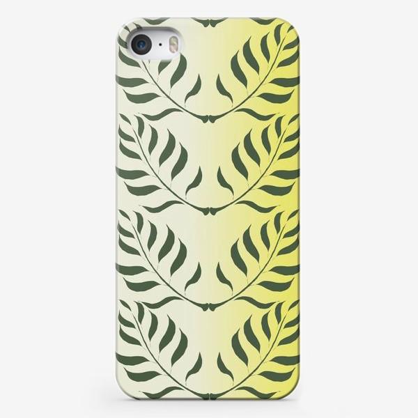 Чехол iPhone «Паттерн Веточки Оливы»