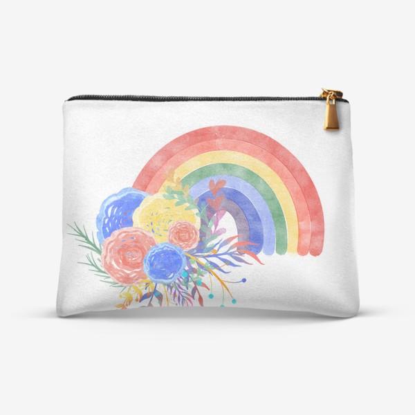 Косметичка «Цветущая радуга»
