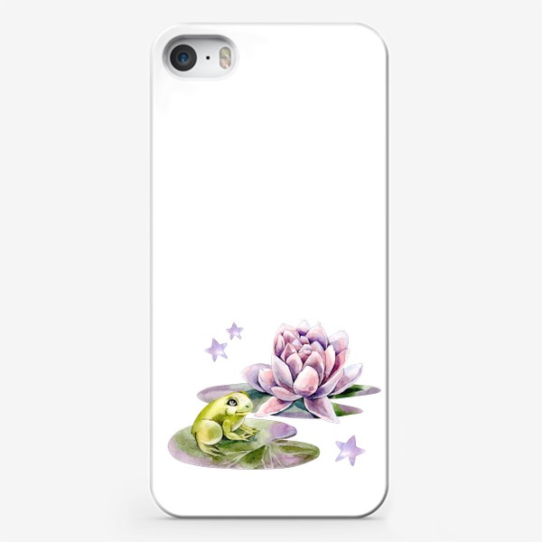 Чехол iPhone «Лягушка и лилия»