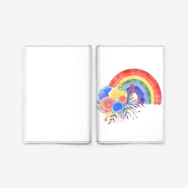 Обложка для паспорта «Цветущая радуга»