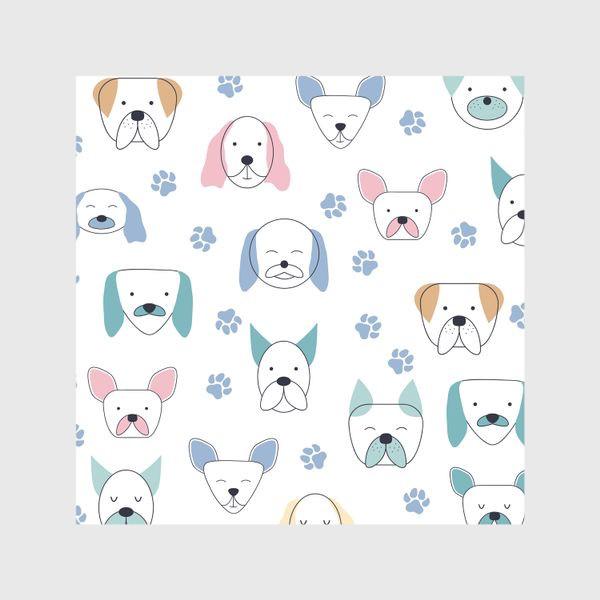 Шторы «Милые собачки. Паттерн»