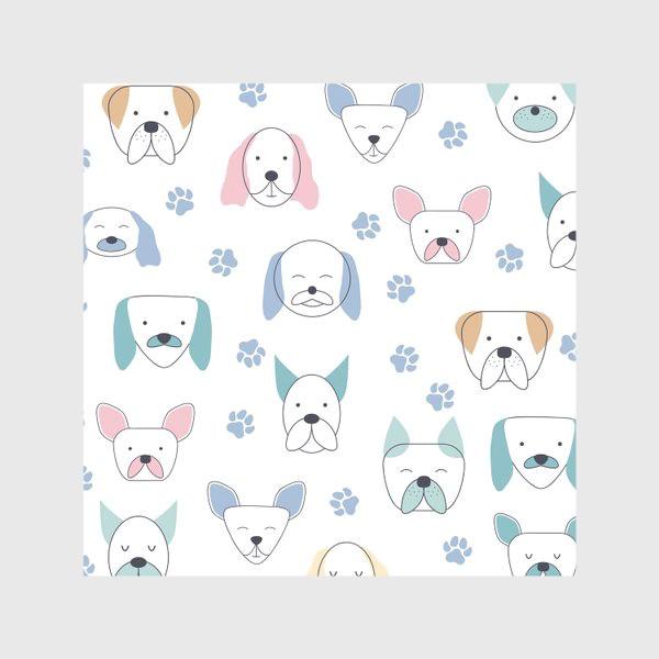 Скатерть «Милые собачки. Паттерн»
