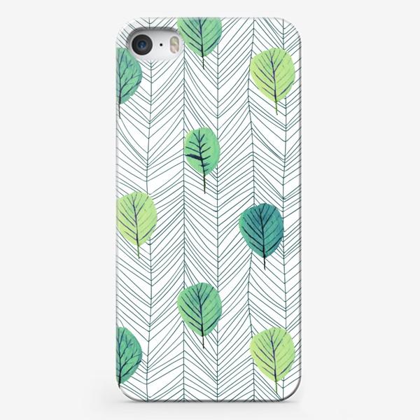 Чехол iPhone «Графика Листья»