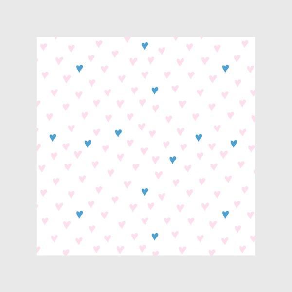 Скатерть «Паттерн с розовыми и синими сердечками»