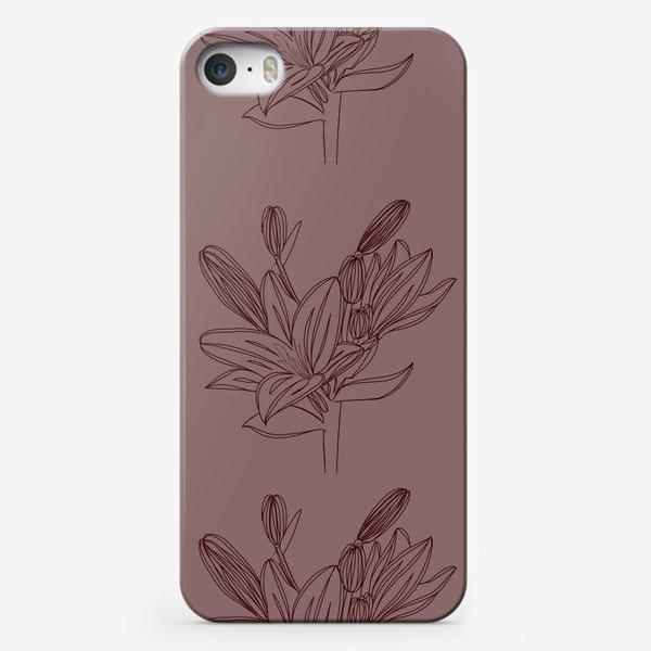 Чехол iPhone «Паттерн Лилия»