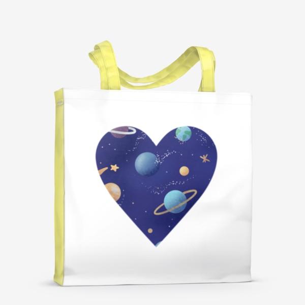 Сумка-шоппер «Космос любовь сердце»