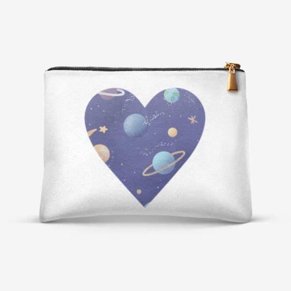 Косметичка «Космос любовь сердце»