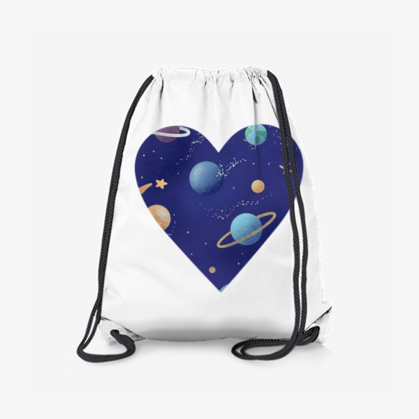 Рюкзак «Космос любовь сердце»