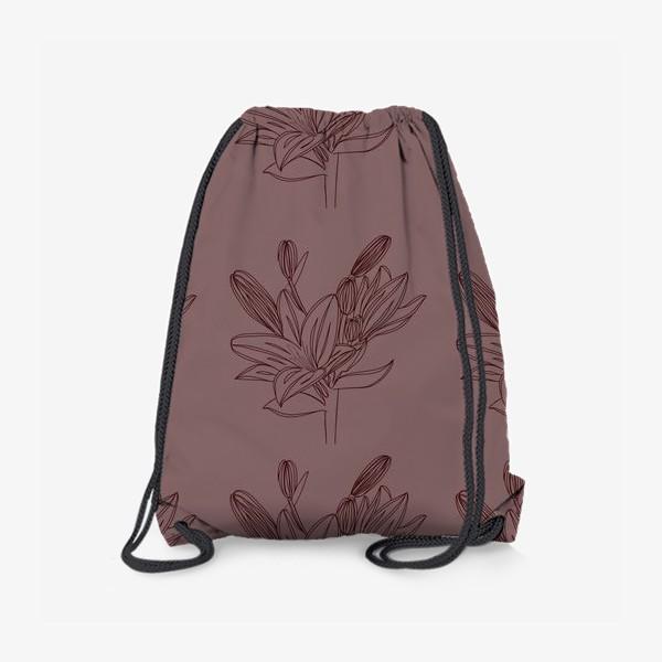Рюкзак «Паттерн Лилия»