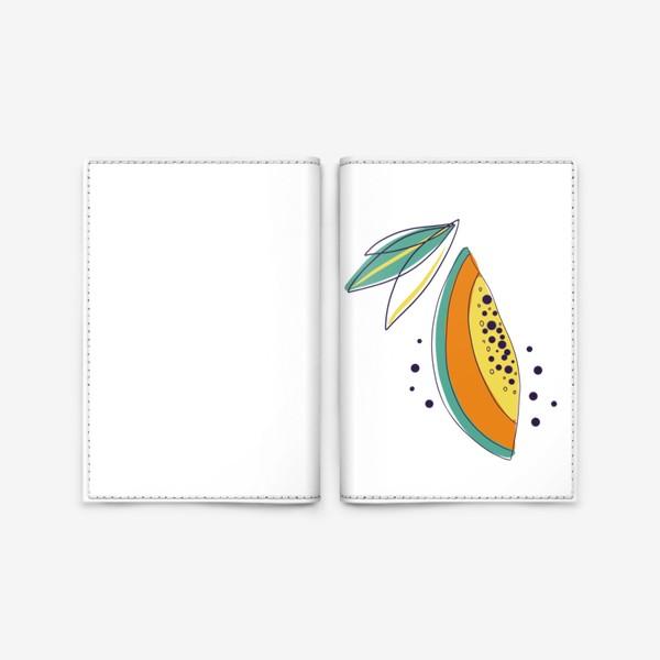 Обложка для паспорта «Папайя»