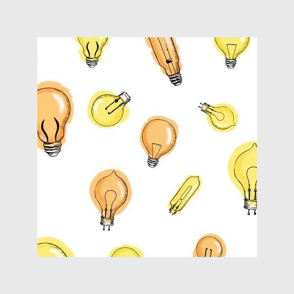 Шторы «Паттерн Лампочки»