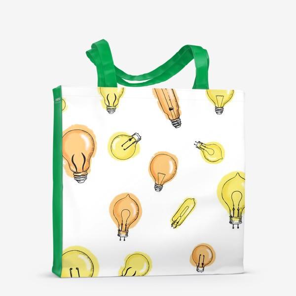 Сумка-шоппер «Паттерн Лампочки»