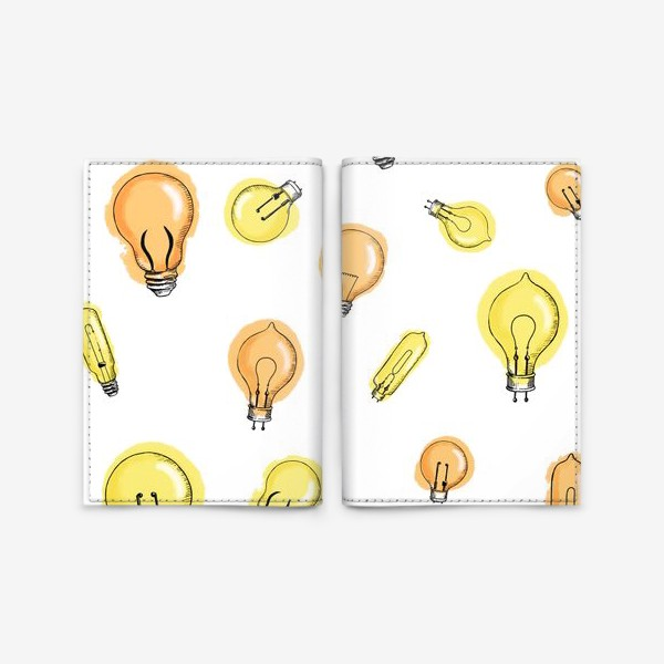 Обложка для паспорта «Паттерн Лампочки»