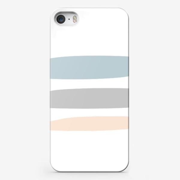 Чехол iPhone «Три полоски - абстрактный принт»