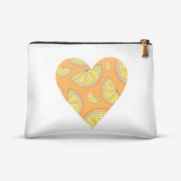 Косметичка «Апельсины лето любовь сердце»