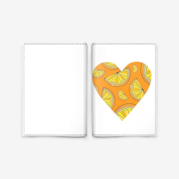 Обложка для паспорта «Апельсины лето любовь сердце»