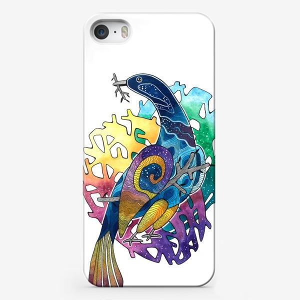 Чехол iPhone «Радужная птица. Радуга»