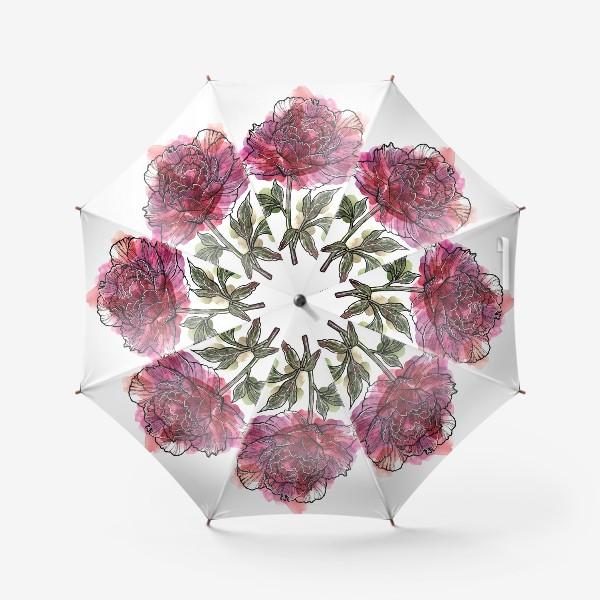 Зонт «Розовый пион»
